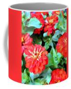 Orange Zinnias Coffee Mug