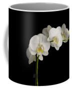 Orchid On Black Coffee Mug