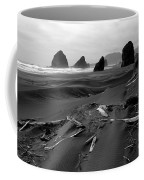 Oregon Coast Black And White Coffee Mug
