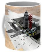 Orion-drive Spacecraft On A Remote Coffee Mug by Rhys Taylor