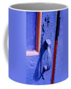 Ornate Blue Handle 2 Coffee Mug