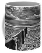 Out To Sea Monochrome Coffee Mug