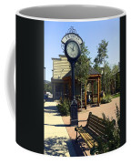 Outdoor Antique Clock Coffee Mug