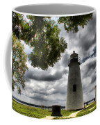 Overcast Clouds At Turkey Point Lighthouse Coffee Mug