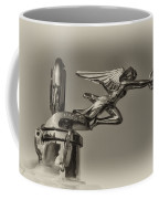 Packard Angel Hood Ornament In Sepia Coffee Mug
