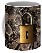 Padlock Over Keys Coffee Mug by Carlos Caetano