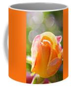 Paint Daub Yellow Rose Coffee Mug