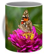 Painted Lady With Zinnia Coffee Mug
