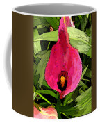 Painted Pink Cala Lily Coffee Mug