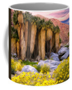 Palm Oasis And Wildflowers Coffee Mug