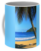Palm Shaded Island Beach  Coffee Mug