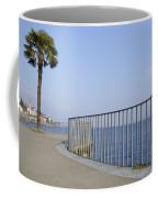 Palm Tree On The Lakefront Coffee Mug