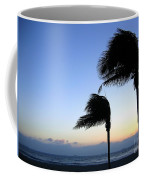 Palm Trees Swaying In The Wind Coffee Mug by Yali Shi