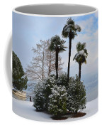 Palm Trees With Snow Coffee Mug