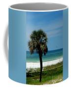 Palmetto And The Beach Coffee Mug by Susanne Van Hulst