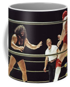 Pampero Firpo Vs Texas Red In Old School Wrestling From The Cow Palace  Coffee Mug
