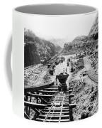 Panama Canal - Construction At The Culebra Cut - C 1910 Coffee Mug