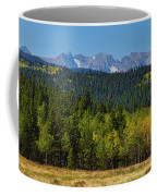 Panorama Scenic Autumn View Of The Colorado Indian Peaks Coffee Mug