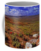 Panoramic View Of Fossil Butte Nm Valley Coffee Mug