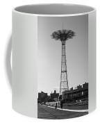 Parachute Drop In Black And White Coffee Mug