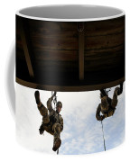 Pararescuemen Take Part In A Rappelling Coffee Mug