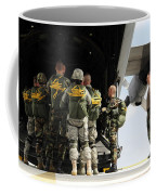 Paratroopers Gather Around The Back Coffee Mug by Stocktrek Images