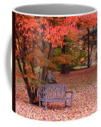 Park Bench In Fall Coffee Mug