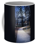 Park Path At Dusk Coffee Mug