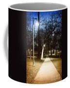 Park Path At Night Coffee Mug by Elena Elisseeva