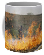 Park Workers Set A Controlled Fire Coffee Mug by Annie Griffiths