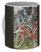 Parking Bicycles In Mako Coffee Mug