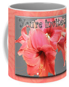 Party Invitation - Amaryllis Flowers Coffee Mug