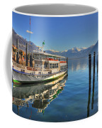 Passenger Ship Reflected On The Water Coffee Mug