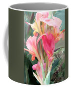 Pastel Pink Cannas Coffee Mug