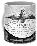 Paul Revere: Trade Card Coffee Mug