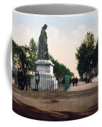 Paul Riquet Statue And The Allees In Beziers - France Coffee Mug
