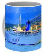 Peace Boat Along South America Coastline Coffee Mug