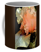 Peach Iris Digital Art Coffee Mug