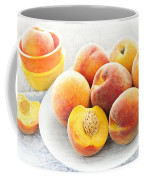 Peaches On Plate Coffee Mug