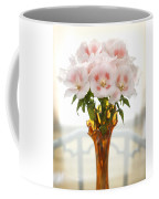 Peachy Gladiolas Coffee Mug