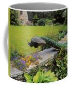 Peacock In Formal Garden, Kilmokea, Co Coffee Mug