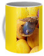 Pearl In Oyster Shell Coffee Mug