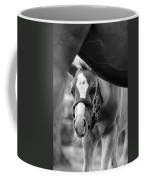 Peek'a Boo - Black And White Coffee Mug