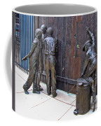 Peeking At Baseball Game Sculpture Coffee Mug