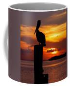 Pelican Sundown Coffee Mug by Karen Wiles