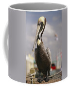 Pelican Visiting City Marina Coffee Mug