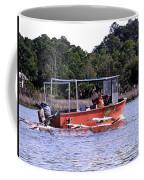 Pelicans Following Boat Coffee Mug