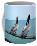 Pelicans On The Pier Coffee Mug