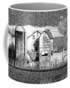 Pencil Sketch Barn Coffee Mug