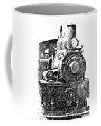 Pencil Sketch Locomotive Coffee Mug